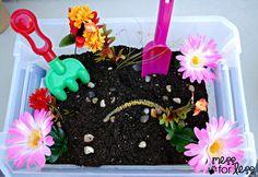 Garden Sensory Bin | Mess For Less