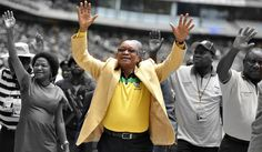 Photo: South Africa's President and leader of the ruling ANC party Jacob Zuma…