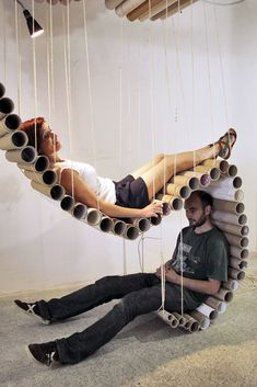 Usefull spaces created out of cardboard! Last event from Transfo Design #ChairDesign