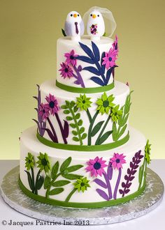 I like the wild flowers on the wedding cake