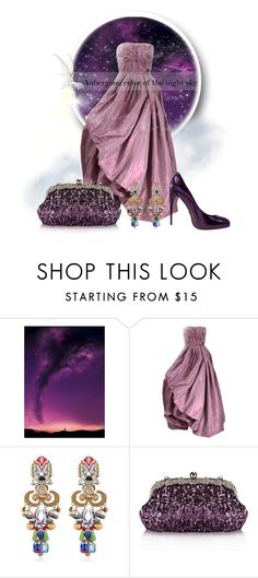 """""""Aubergine, the color of the night sky"""" by interesting-times ❤ liked on Polyvore featuring Oscar de la Renta, Ayala Bar and Chicnova Fashion"""