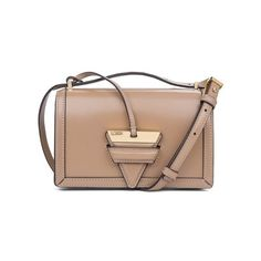 LOEWE Barcelona Small Bag Mink Colour (€1.600) ❤ liked on Polyvore featuring bags, handbags, shoulder bags, crossbody, mink colour, mini crossbody, mini crossbody handbags, shoulder strap bags, mini crossbody purse and beige purse