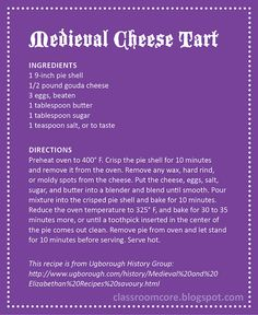 Elizabethan Era Food Recipes Easy