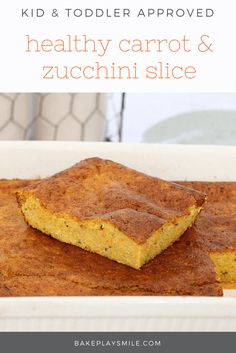 This Healthy Carrot & Zucchini Slice is the perfect lunch or light dinner. Make it ahead of time and freeze for a quick and easy meal on the run! #healthy #baby #toddler #kids #recipes #vegetable #slice #thermomix #conventional #easy #family #best
