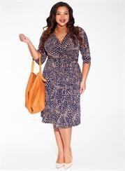Plus Size Dominique Dress in Midnight Sahara