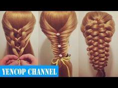 5 Peinados Faciles Y Rapidos Y Bonitos Con Trenzas (P3) | Peinado 2015 - 2016 ♥ Yencop - YouTube