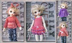 4 PCS clothing for 1/6 bjd fairyland LittleFee Bisou #BJD