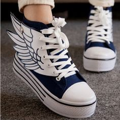 """Fashion kawaii wings canvas shoes CuteKawaiiHarajukuFashionClothing&AccessoriesWebsite.SponsorshipReview&AffiliateProgramopening!this shoes is adorable, and they have more adorable shoes, just visit page, also use this coupon code """"Fanniehuang"""" to get all 10% off"""