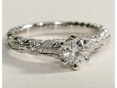 Love the organic style ivy diamond engagement ring