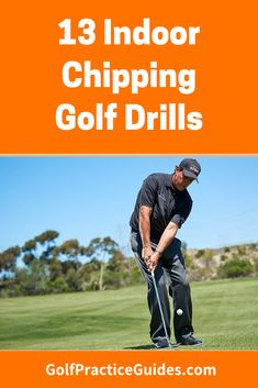 Check out the best 13 indoor golf chipping drills you can practice from home to improve your short game. Hitting chip shots at home can improve scores fast. Wrestling Quotes, Golf Chipping Tips, Golf Range, Golf Score, Golf Putting Tips, Golf Practice, Golf Instruction, Golf Tips For Beginners, New Golf