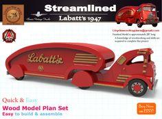 Labatts 1947 by Lloydswoodtoyplans on Etsy