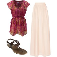 """Summery Modest Church Outfit"" by abbyiscool on Polyvore"