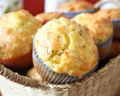 Rețetă Briose cu Porumb Healthy Cooking, Baby Food Recipes, Cheddar, Vegan Vegetarian, Muffins, Bacon, Cupcakes, Breakfast, Desserts