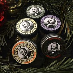 Gents.se have done it again. What a festive shot of my various moustache waxes. Merry Christmas to one and all!