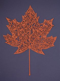 Sycamore Leaf Papercut :)