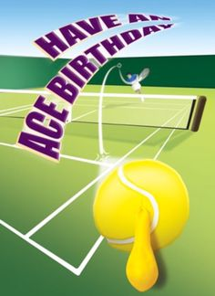 Tennis player happy birthday card happy birthday cards tennis tennis card birthday m4hsunfo Choice Image
