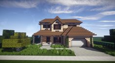 Traditional Suburban House Minecraft Project