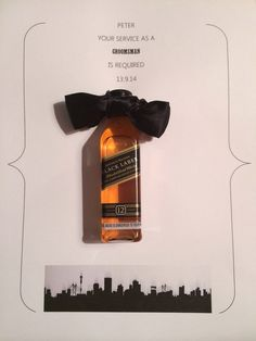 Groomsmen invites Like There for me since 20 Happiness ahead