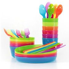 KALAS Children's Kitchen Craft Kids Cutlery Set Plastic Plates Bowls Mugs. Product of IKEA Family. 18 x Cutlery set including 6 x Knives 6 x Folks 6 x Spoons. Cutlery : Width : 14 cm, Height : 3 cm, Length : 18 cm, Weight : kg. Toddler Plates, Kids Plates, Plates And Bowls, Microwave Dishes, Baby Feeding Pillow, Toy Cars For Kids, Ikea Kids, Ikea Children, Plastic Plates