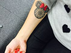 Minnie Mouse mandala Tattoo