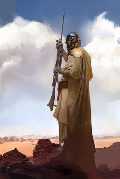 Tusken Raider, Alexander Ovchinnikov on ArtStation at https://www.artstation.com/artwork/Z05JR