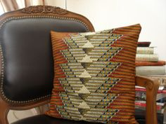 EXCLUSIVE African Wax Print Pillows CHEVRON Remix by ORIGINSStyle, $30.00