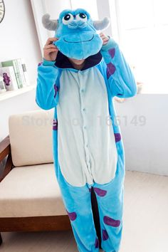 Monstre Sulley Sullivan onesies Pyjamas Cartoon animaux costume Pyjamas  unisexe pijamas, Vêtements de nuit, b0f4843ea5c