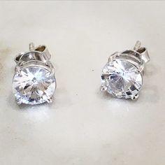 White sapphire stud earrings.... Christmas wish list?!! #whitesapphires #sapphires #stapleearrings by luonejewellery