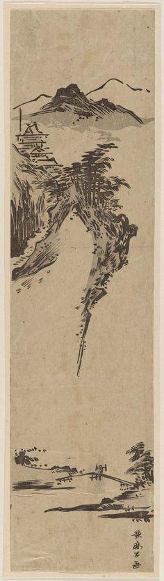 Landscape in Ink-painting Style | Museum of Fine Arts, Boston Artist Kitagawa Utamaro I (Japanese, (?)–1806)