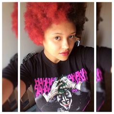 #Artistifro clip ins! Rocking the #Harleyquinn look! 😍 New Facebook page link…