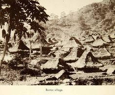 This is an original 1941 sepia halftone print of a Bontoc tribal village located on the island of Luzon in the Philippines. CONDITION This year old Item is rated Very Fine +++. Light aging through Old Photos, Vintage Photos, Vintage Cars, Baguio City, Philippines, Nativity, The Past, Nature, Tagalog
