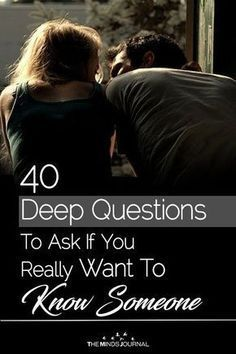 40 Deep Questions To Ask If You Really Want To Get To Know Someone 40 tiefe Fragen, die Sie stellen. Questions To Get To Know Someone, Deep Questions To Ask, Questions To Ask Your Boyfriend, Getting To Know Someone, Interesting Questions To Ask, Personal Questions, What Are You Doing, What Do Guys Like, Things To Do With Your Boyfriend
