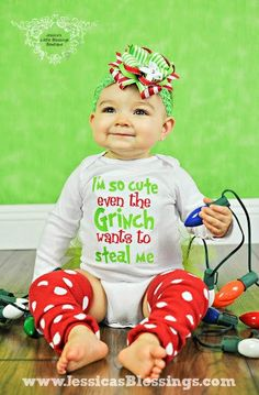 Christmas Grinch onesie or shirt by 5littleblessings on Etsy, $23.00