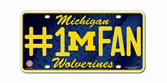 Michigan Wolverines License Plate - #1 Fan
