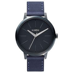 Nixon Kensington Leather Watch (€110) ❤ liked on Polyvore featuring jewelry, watches, leather wrist watch, buckle watches, dial watches, slim watches e engraved jewelry