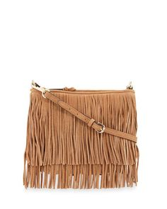 Finn Fringe Suede Crossbody Bag, Cuoio by Rebecca Minkoff at Neiman Marcus.