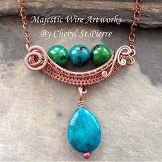 The Viking Queen Necklace Tutorial by majesticwireartworks on Etsy
