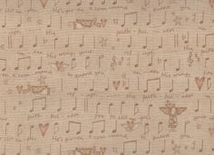 Fat Quarter, Music Notes, Angels Among Us, The Buggy Barn by Henry Glass, Angel Fabric, Music Fabric