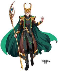 Anime Loki totes rules >:D (Dat scepter doh @A@)