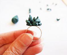 DIY Emerald Crystal Ring Tutorial