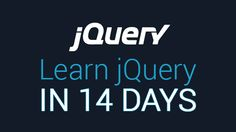 jQuery is a MUST know Javascript library for every Javascript programmer and web designer. In this 14 day course, you will learn jQuery making you a better web-designer & front-end developer. By the end of the course, you will have created multiple web features from scratch, such as an accordion and a photo-slider AND you will have an intimate understanding of how websites are really built and function inside-out. #Programming #JQuery #Web #coding #developer #Javascript #Technology