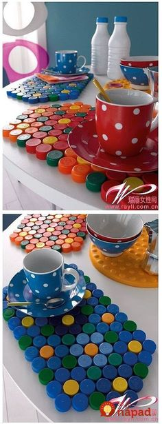 Jazz up the décor of your house with enticing craft items. Go through the collection of easy DIY crafts here for getting fabulous ideas to make the craft. Plastic Bottle Caps, Bottle Cap Art, Bottle Cap Crafts, Pet Bottle, Recycle Plastic Bottles, Easy Diy Crafts, Fun Crafts, Crafts For Kids, Plastik Recycling