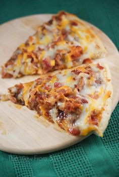 BBQ Bacon Pizza #recipe - quick & easy dinner for the family! #BaconLove #sponsored