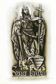 August 16 - His incorrupt right hand is treasured as the most sacred relic in Hungary - Nobility and Analogous Traditional Elites Cover Up Tattoos, Tattoo Drawings, Hungarian Tattoo, Saint Stephen, Saints, Traditional, Marvel, Christopher Hughes, Faith Tattoos