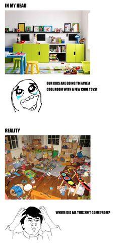 Kids' toy room: fantasy vs reality