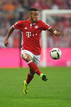 Thiago Alcantara of Bayern Muenchen in action during the Bundesliga match…