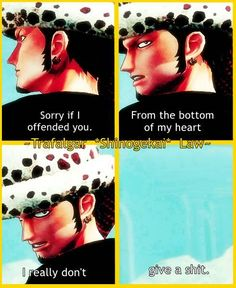 Trafalgar Law, Funny, One Piece #Savage XD