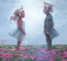 """""""Prince and princess"""" - by eri-damon - Allura and Lotor"""