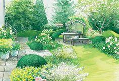Sitzplatz auf Rasenfläche
