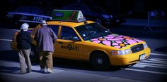 "Portraits of Hope; ""Garden in Transit,"" NYC Taxi. Flower taxi"